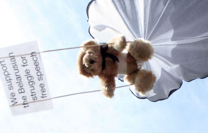 Swedish activists intruded with a light plane on the Belarus' airspace and dropped hundreds of teddy bears carrying slogans supporting human rights and media freedom