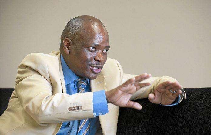 The SABC's acting chief operations officer Hlaudi Motsoeneng.