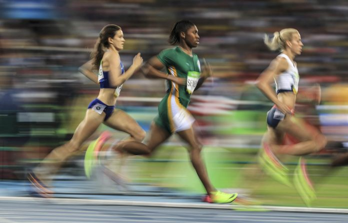 Unstoppable: The IAAF rules seem to be an effort to trip up the record-breaking Caster Semenya.