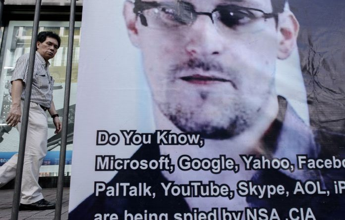 A poster in support of Edward Snowden during one of the many world wide protests after his revelations on the NSA's work.