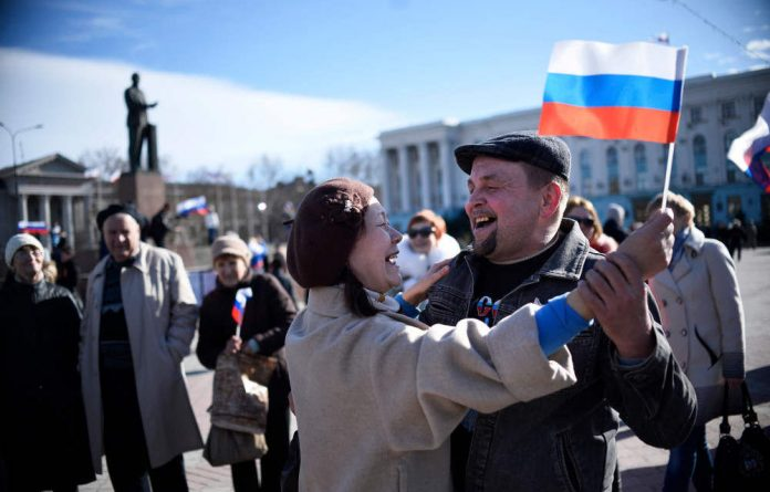 Crimea's leaders declared a Soviet-style 97% result in favour of seceding from Ukraine.