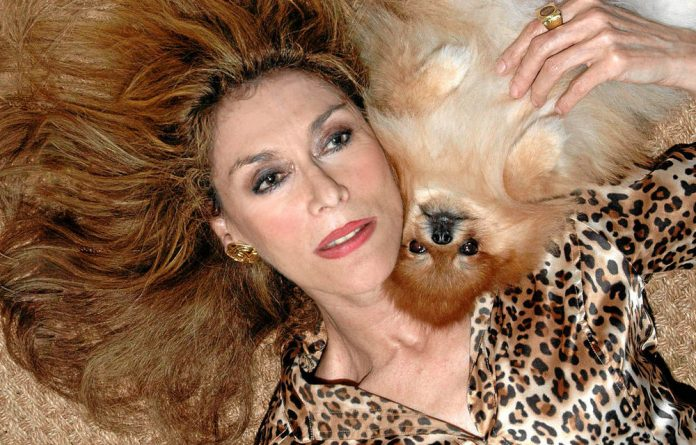 Allan my own: A recent picture of Jani Allan with one of her beloved Pomeranians. Photo: Ave Maria Blithe