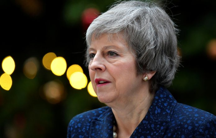 May and the other 27 EU leaders approved a Brexit withdrawal agreement at a summit on November 25 last year.