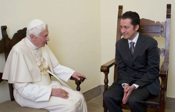 Vatican's ex-bulter Paolo Gabriele meeting with Pope Benedict XVI at the Vatican City prison where the pope pardoned his former butler.