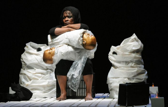 Faniswa Yisa in Brett Bailey's medEia: How one woman breaks the mould and acts to break free of oppressive systems.
