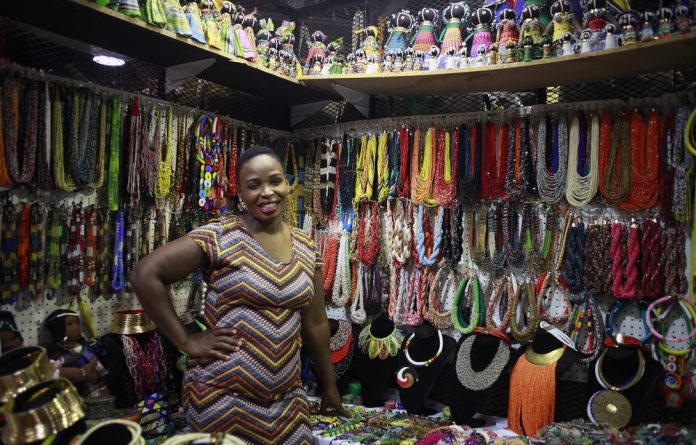 Zanele Ncube is the owner of Mazet Beadworks.