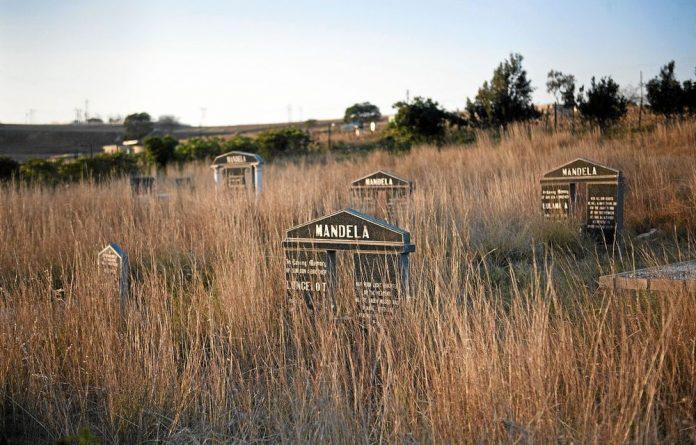 Nelson Mandela's gravesite in his rural hometown of Qunu in the Eastern Cape.