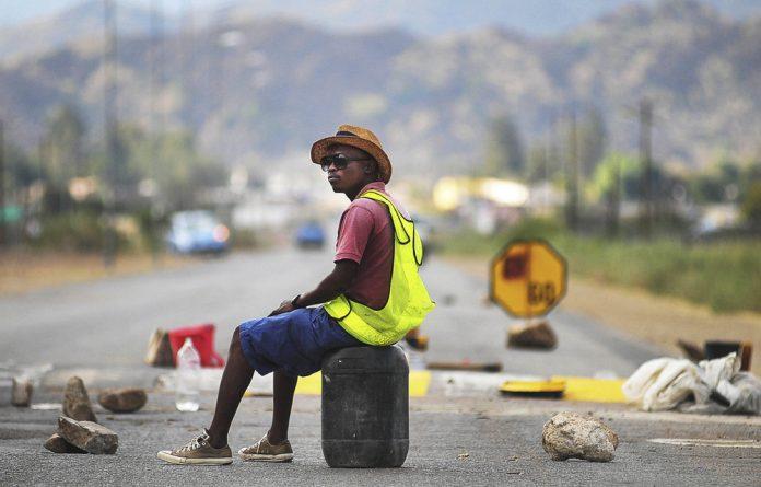 Stranded: Former mineworker Nelson Lesufi
