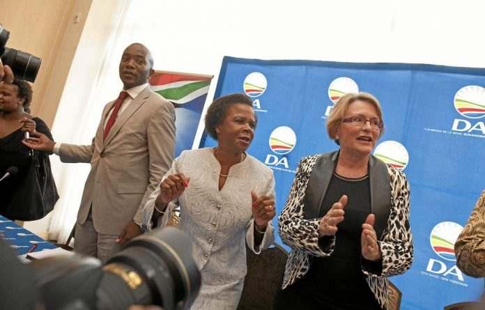 DA presidential candidate Mamphela Ramphele and party leader Helen Zille.