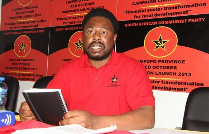 Gilbert Kganyago denied his involvement in the VBS saga at an SACP provincial council meeting last month.
