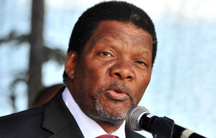 Minister of Rural Development and Land Reform Gugile Nkwinti