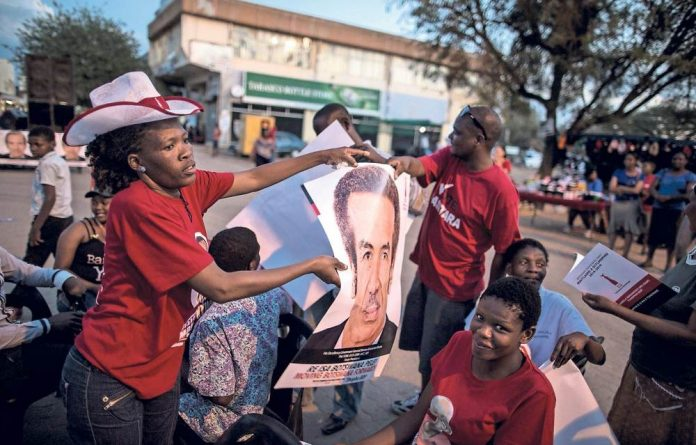 Main man: President Ian Khama and his Botswana Democratic Party seem to be calling the shots for the media.