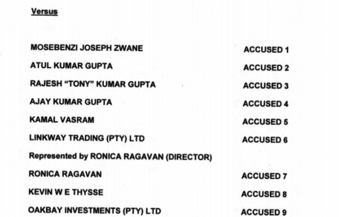 Screenshot of the front page of the DA's draft indictment sheet
