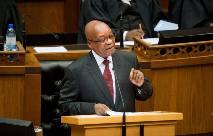 President Jacob Zuma says he's not resigning as president of the country.
