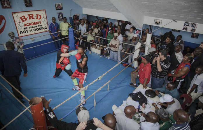 One-two: Boxers gravitate to the boxing gym in the basement of the Wembley Arena in Turffontein