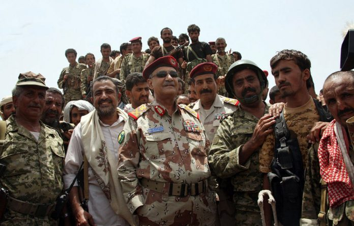 Yemeni Defence Minister General Mohammed Nasser Ahmed oversees a military operation against al-Qaeda in Loder
