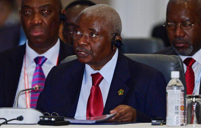 Mozambique President Armando Guebuza.