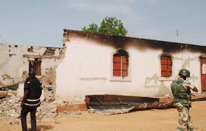 A school damaged in Nigeria after attacks by Boko Haram.
