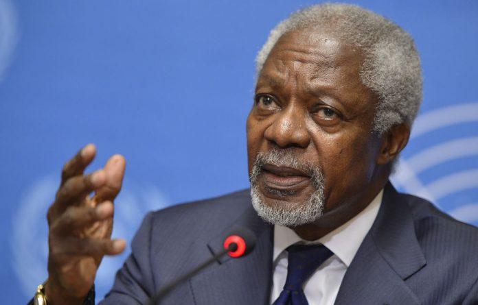 UN-Arab League mediator Kofi Annan.