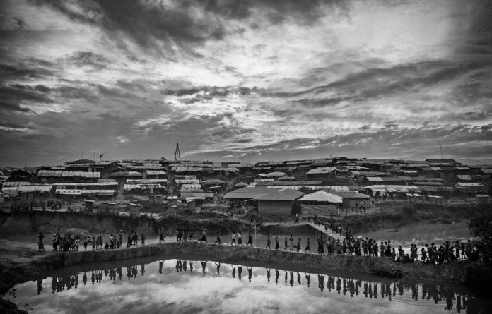 Displaced: More than 700 000 Rohingya refugees have flooded into Bangladesh