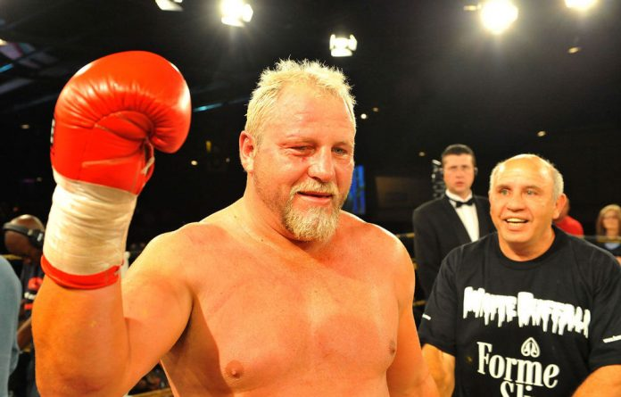 Botha in action during a heavyweight bout at Emperor's Palace in 2011.