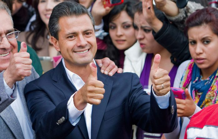 The presidential candidate for Mexico's Institutional Revolutionary Party