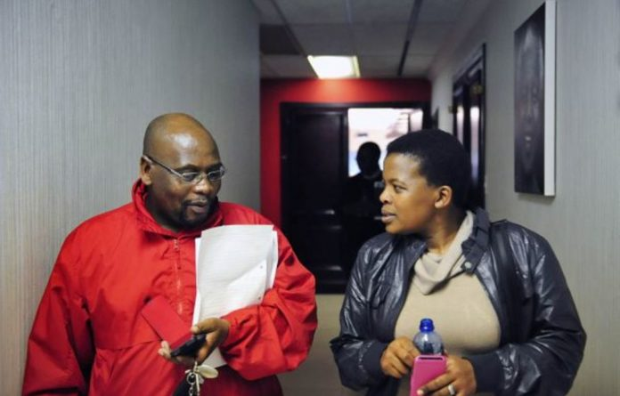 Cosatu boss Sdumo Dlamini and his deputy Zingiswa Losi