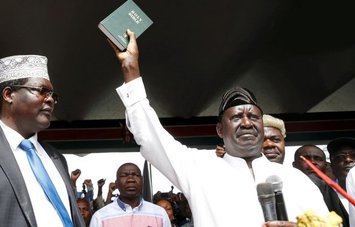 Opposition leader Raila Odinga inaugurated himself on Wednesday and the Kenyan government has cracked down on media houses who tried to cover the event yesterday