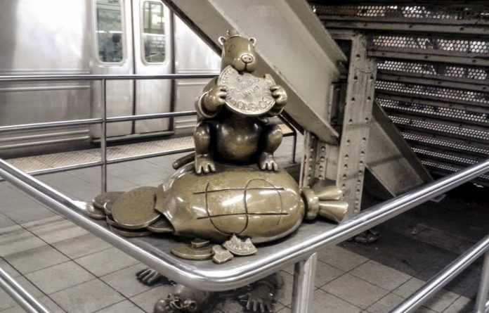 Manhattan mystery: The playful works of Tom Otterness provide plenty of amusement for visitors to New York