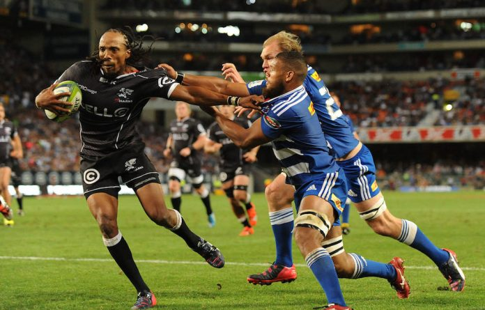 Ref rules: Odwa Ndungane's attempt to dot the ball down for a 5m scrum during the match between the Sharks and the Stormers resulted in a try being awarded – and lots of confusion.