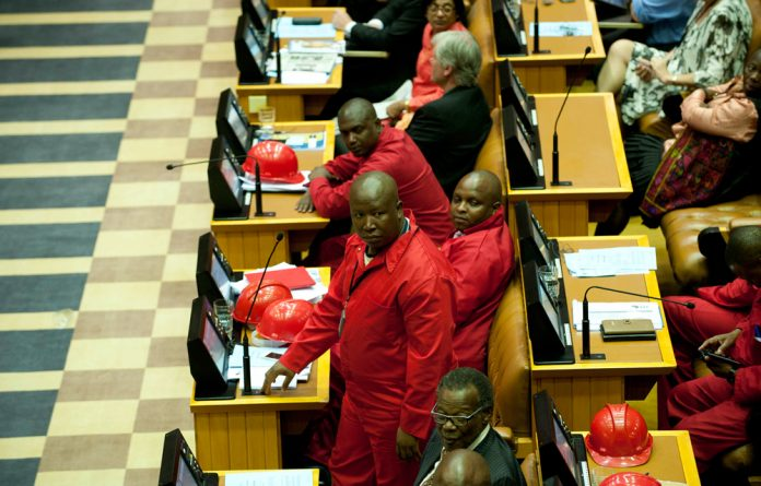 Julius Malema and the EFF in the National Assembly.