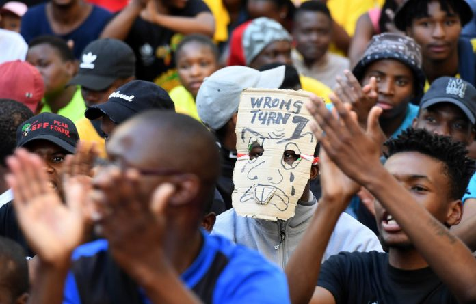 Impasse: The university wants students to provide lease agreements to qualify for meal allowances. Photo: Deaan Vivier/Gallo Images/Netwerk24