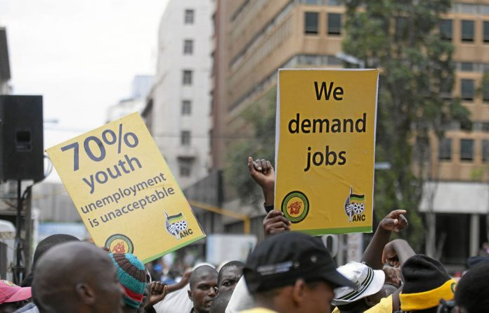 The ANC says it is deeply concerned about the level of unemployment among the youth.