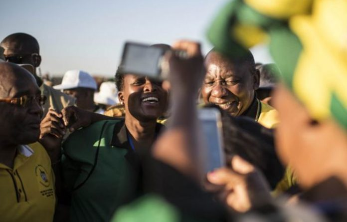 In Malamulele Cyril Ramaphosa warned of 'distractions' at the elective conference.