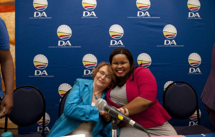 DA leader Helen Zille with the party's former parliamentary leader