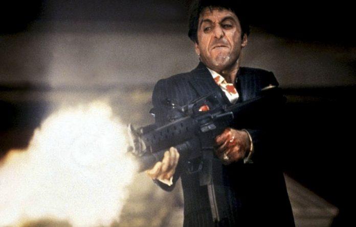 Take down: Ex-railway boss Lucky Montana made like Scarface's Tony Montana at the parliamentary hearings