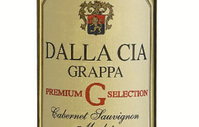 The Dalla Cia grappa and Cabernet Sauvignon.