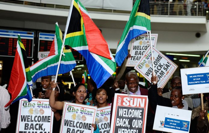 South Africa's Paralympians returned on Monday from the London 2012 Paralympics.