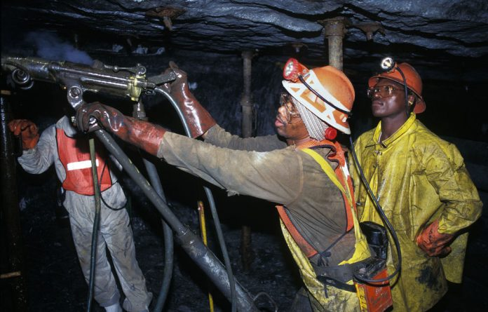 South African gold miners are dwindling in number.