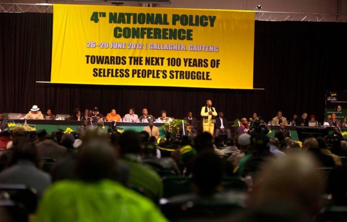 The leadership of the ANC at the party's national policy conference in Midrand