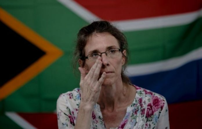 Yolande Korkie was released on January 10 but her husband Pierre remains captured.