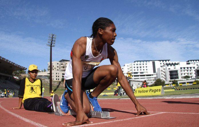 Olympic medal contender Caster Semenya.