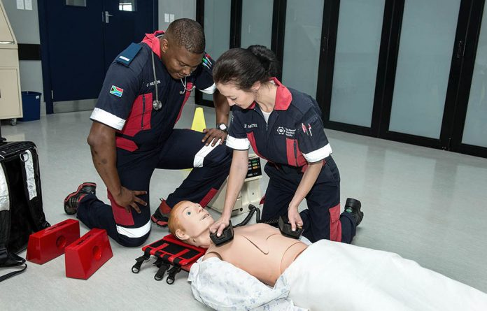 EMS students train at Nelson Mandela University. About 50% of EMS positions are vacant in Limpopo.
