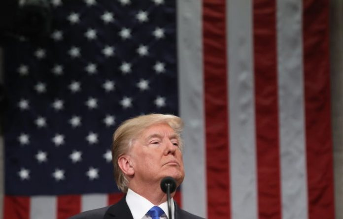 US President Donald Trump delivers his first State of the Union address.