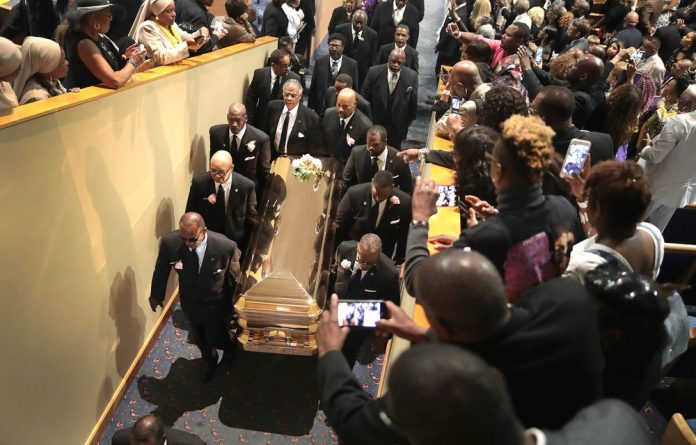 Inside the church at Aretha Franklin's funeral were family