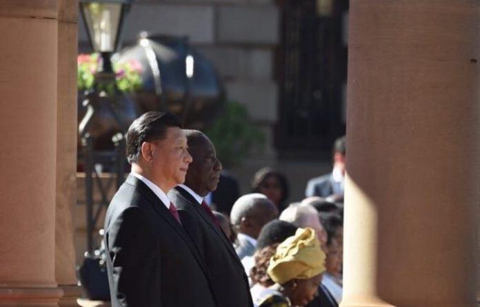 Chinese President Xi Jinping and President Cyril Ramaphosa