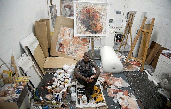 Artist Benon Lutaaya found his metier in paper scavenged by Kampala street children.