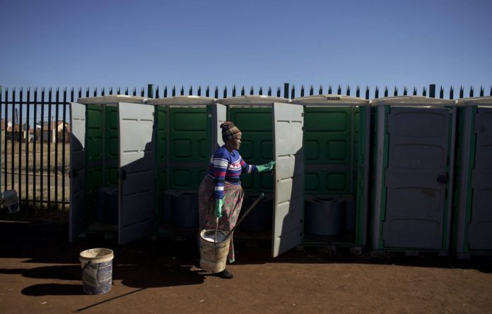 Lufhereng Secondary School has no proper toilets and parents have had to illegally connect the school to water.