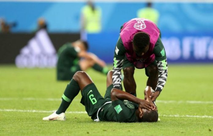 Odion Ighalo despairs after Argentina knocked Nigeria out of the World Cup.