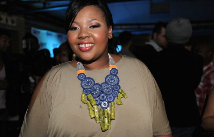 Radio presenter Anele Mdoda.